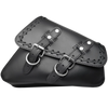 La Rosa Cross Lace Swing Arm Saddle Bag - American Legend Rider