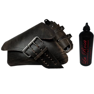 La Rosa HD Sportster Saddle Bag with Fuel Bottle