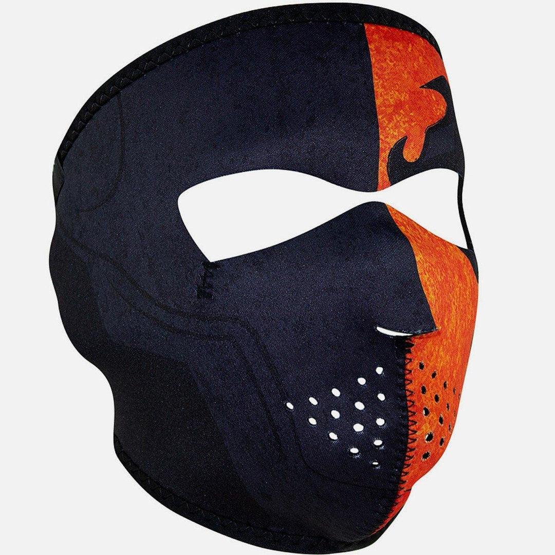 ZANheadgear® Merc Full Face Biker Mask, Neoprene/Polyester, OSFM, Black/Orange