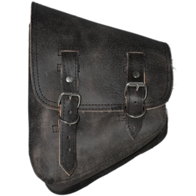 La Rosa Harley V Rod Left Side Saddle Bag - Rustic Black