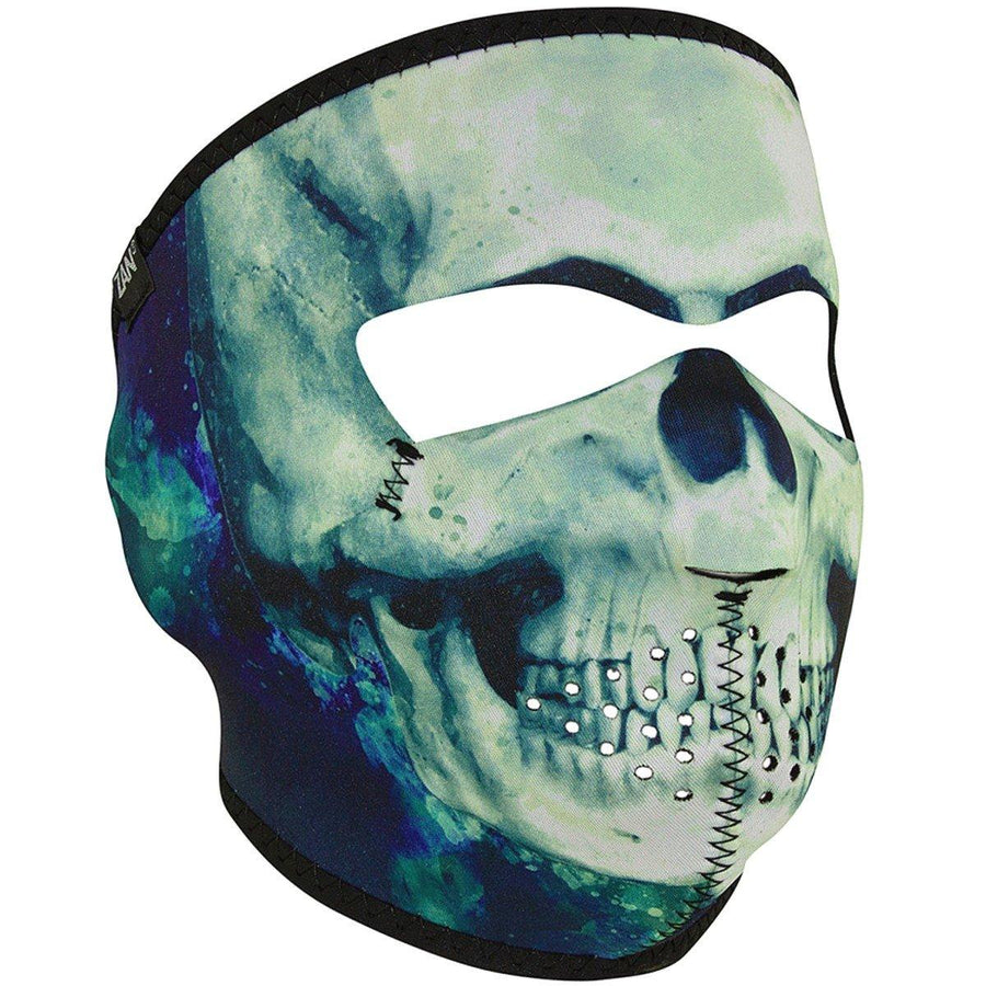 Zan headgear® Paint Skull Full Face Mask, Neoprene/Polyester, One Size