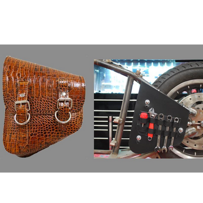 La Rosa All Softail Models Saddle Bag wiith Inside Tool Pouches