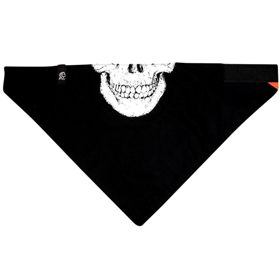 Zan Headgear® Multifunctional Skull Bandana, Unisex, Cotton/Fleece, OSFM, Black/White