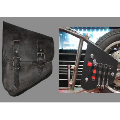 La Rosa All Softail Models Rustic Leather Bag with Inside Tool Pouches