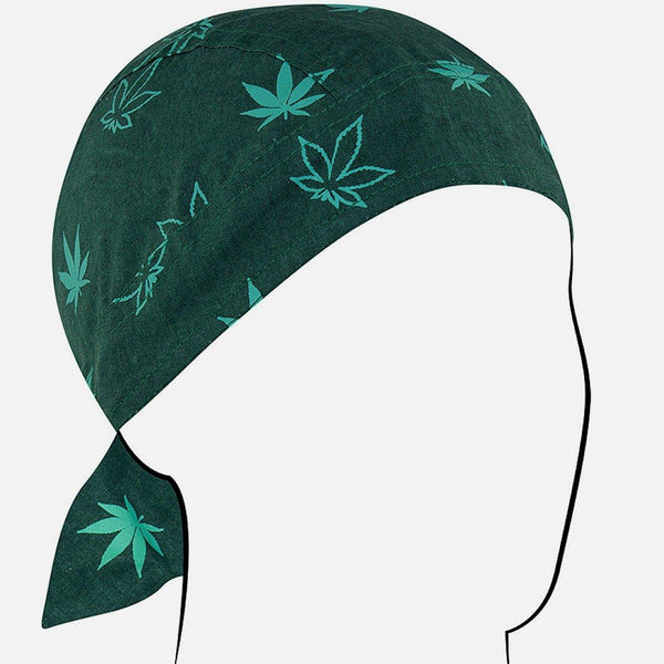 ZANheadgear® Green Leaf Cotton Bandana
