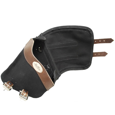 La Rosa Softail Canvas Leather Strap Swing Arm Bag