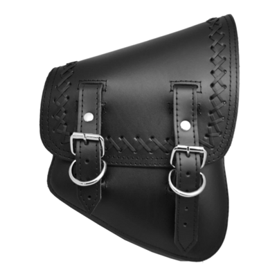 La Rosa Cross Laced All Softail Leather Plain Swing Arm Bag