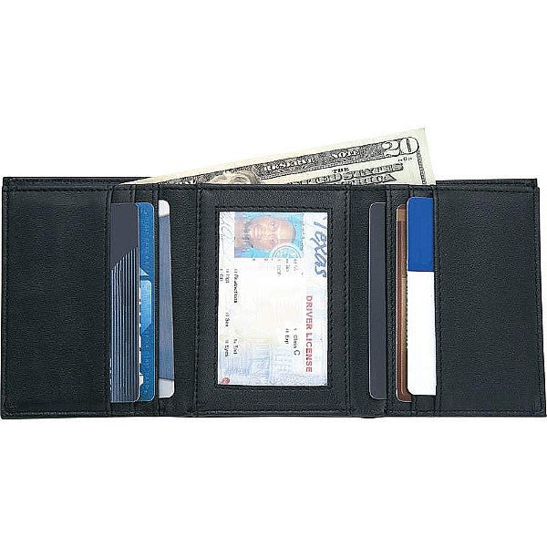 Jillian Men's Genuine Leather Tri-Fold Wallet
