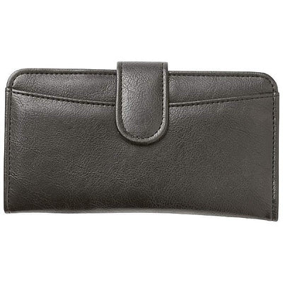 Jillian Embassy Biker Ladies Faux Leather Wallet, Black