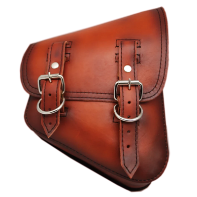 La Rosa All Softail Models Aged Leather Swing Arm Bag - American Legend Rider