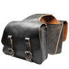 La Rosa Universal Throw Over Rustic Leather Saddle Bag