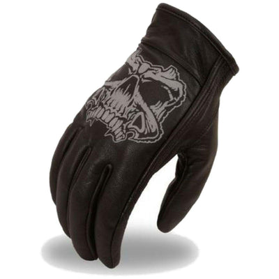 First Manufacturing Reflective Skull Gloves