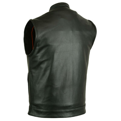 Daniel Smart Scoop Collar Leather Vest