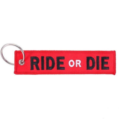 Motorcycle Tag Keychain, Zinc Alloy & Polyester