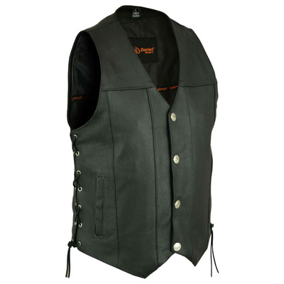 Daniel Smart Buffalo Nickel Head Snaps Vest with Side Lace