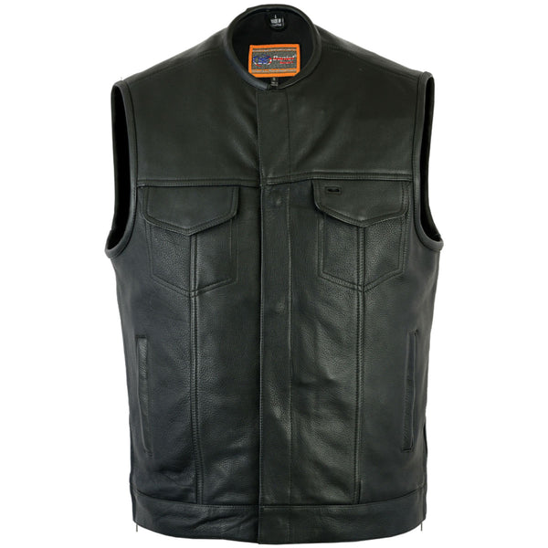 Daniel Smart Bottom Side Zipper Vest