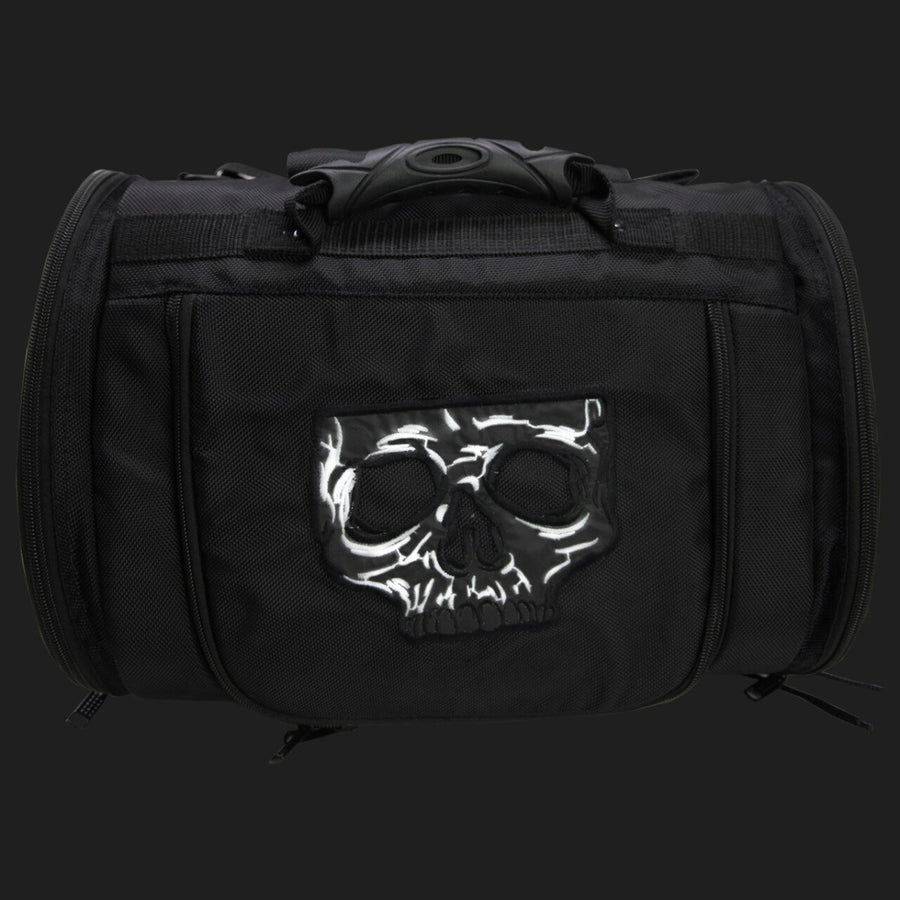 Vance Leather Medium Textile Trunk Bag with Skull Design
