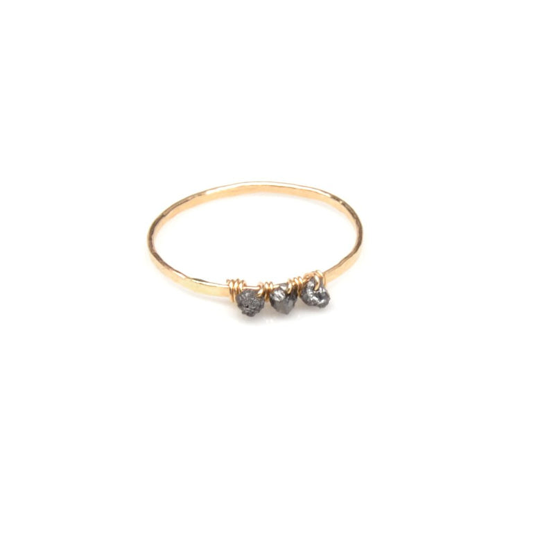 Black Diamond Trio Ring