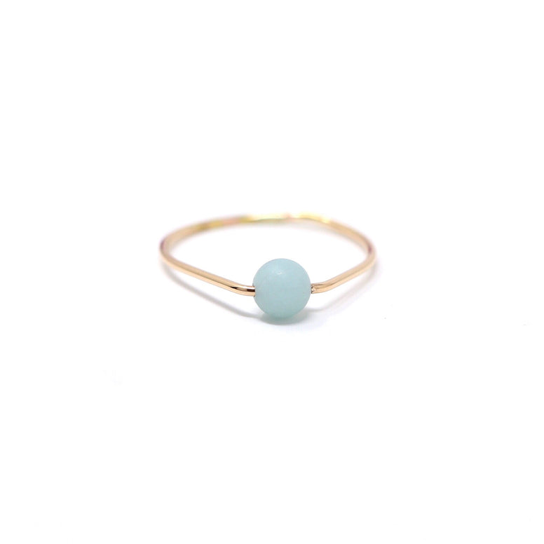Aventurine Poppy Ring