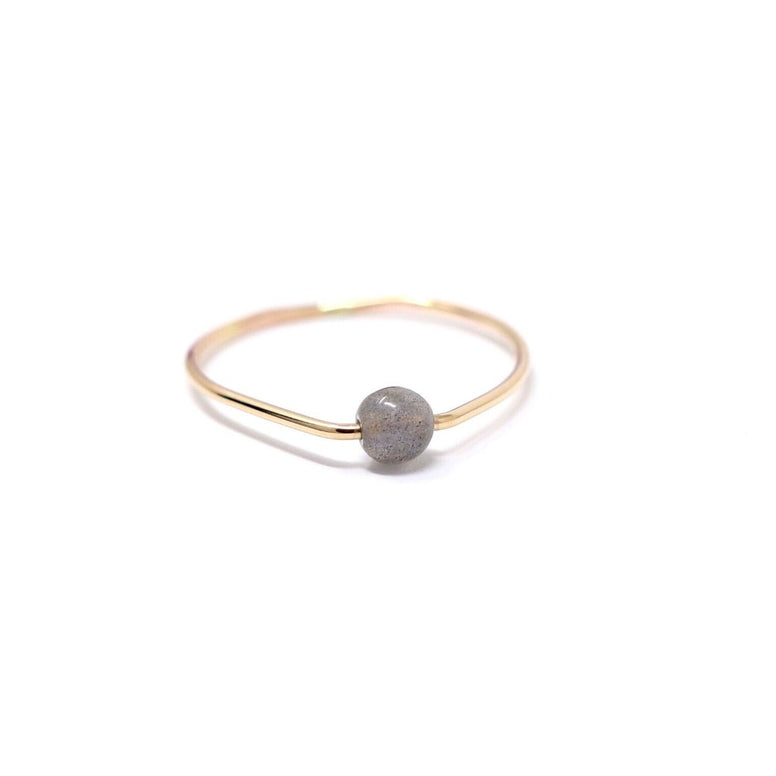 Labradorite Poppy Ring