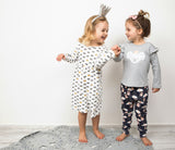 Organic cotton crown one piece dress - miniwardrobe-Dresses-Mini Wardrobe Boutique Kidswear Online