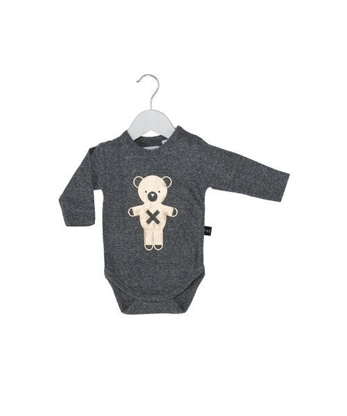Huxbaby golden Soldier bear long sleeves onesie - Huxbaby-Rompers-Mini Wardrobe Boutique Kidswear Online