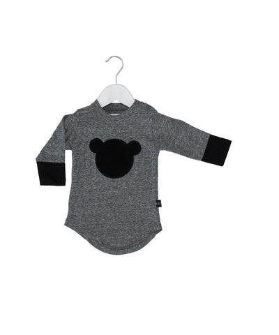 Huxbaby shadow bear long sleeve t-shirt - Huxbaby-Tops-Mini Wardrobe Boutique Kidswear Online