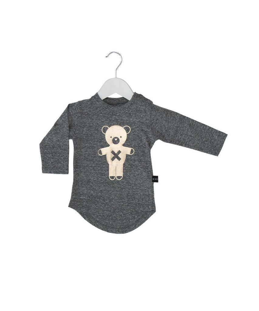 Huxbaby soldier bear long sleeve t-shirt grey