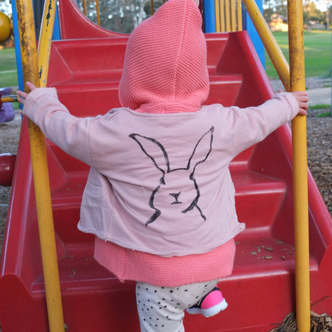 Rabbit cardigan - miniwardrobe-Outterwear-Mini Wardrobe Boutique Kidswear Online