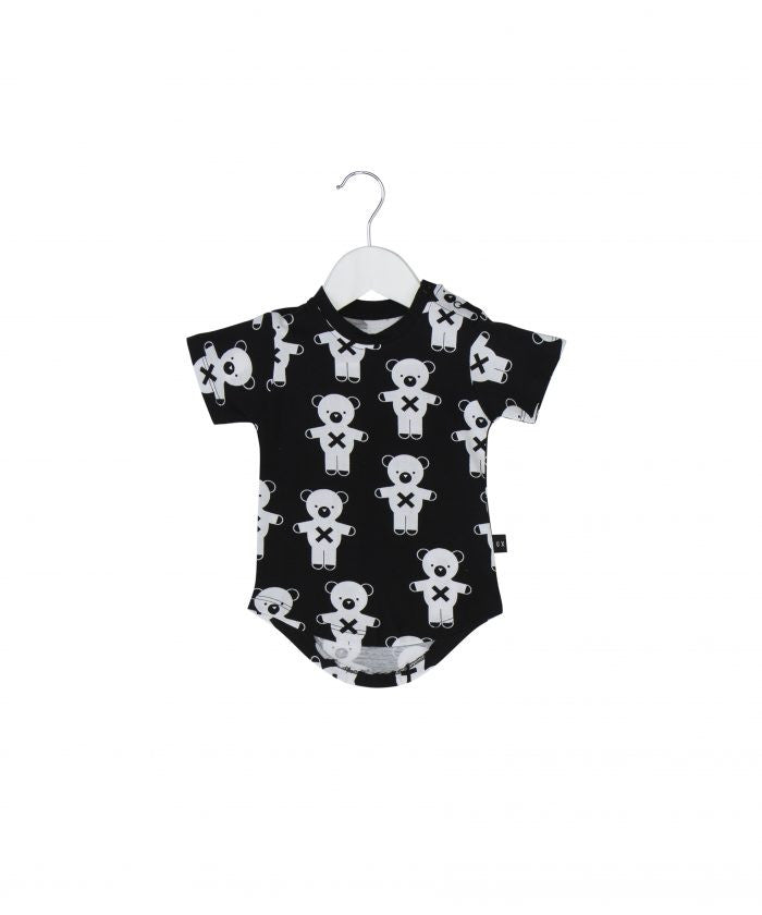 Huxbaby soldier bears drop back T-shirt in blacn - Huxbaby-Tops-Mini Wardrobe Boutique Kidswear Online