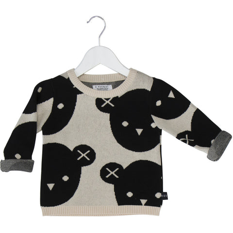 Huxbaby Soldier bear jumper 100% organic knit - Huxbaby-Tops-Mini Wardrobe Boutique Kidswear Online