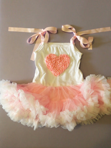 heart tutu dress - miniwardrobe-Dress-Mini Wardrobe Boutique Kidswear Online
