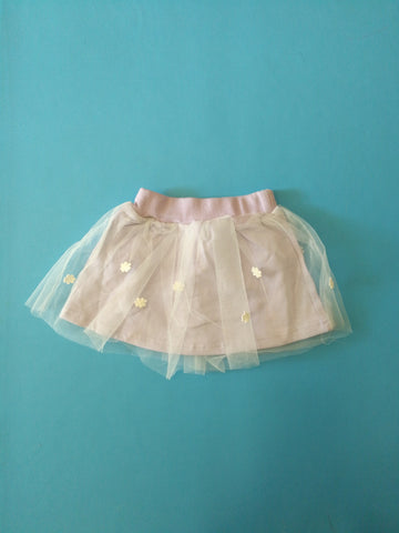 purple flower tutu mini skirt - Mini Wardrobe Kidswear-Skirt-Mini Wardrobe Boutique Kidswear Online
