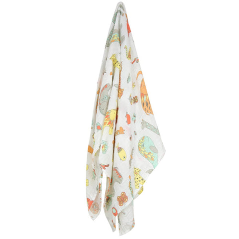 Weegoamigo muslin wraps zoo - Mini Wardrobe Kidswear-Wraps-Mini Wardrobe Boutique Kidswear Online