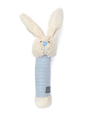 Bella Bunny Rattle in blue - miniwardrobe-toys-Mini Wardrobe Boutique Kidswear Online