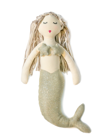 Mia the mermaid Toy in gold - miniwardrobe-toys-Mini Wardrobe Boutique Kidswear Online
