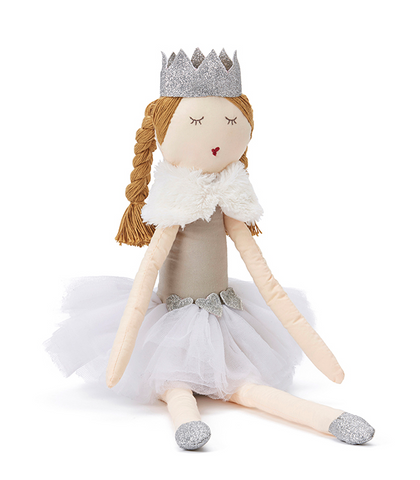 Princess pearl toy in white/silver - miniwardrobe-toys-Mini Wardrobe Boutique Kidswear Online
