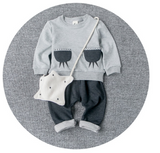 Bear on Shoulder set - miniwardrobe-Outfit Set-Mini Wardrobe Boutique Kidswear Online