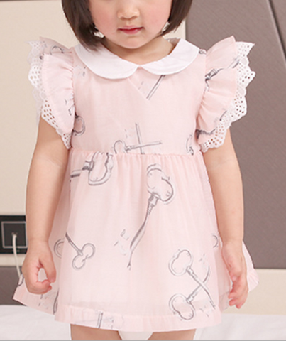 Key dress with lace sleeves - miniwardrobe-Dresses-Mini Wardrobe Boutique Kidswear Online