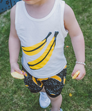 banana singlet - miniwardrobe-Tops-Mini Wardrobe Boutique Kidswear Online