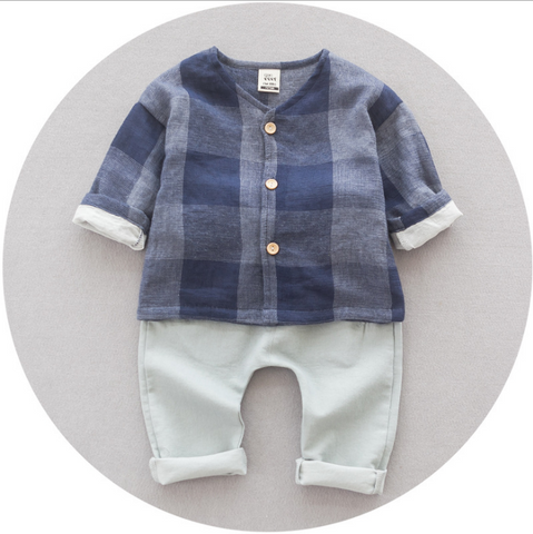 Checked set - miniwardrobe-Outfit Set-Mini Wardrobe Boutique Kidswear Online