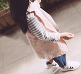 Collar vest in pink - miniwardrobe-Outerwear-Mini Wardrobe Boutique Kidswear Online