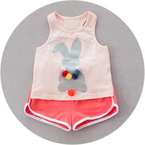 Rabbit  fluffy set - miniwardrobe-Outfit Set-Mini Wardrobe Boutique Kidswear Online