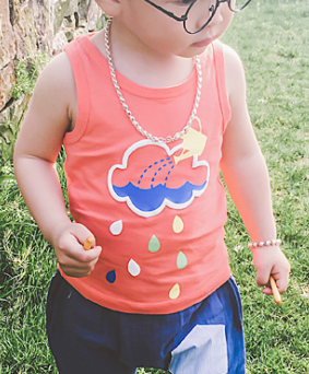 Cloud singlet - miniwardrobe-Tops-Mini Wardrobe Boutique Kidswear Online