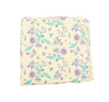 Organic Cotton Baby Wrap Floral Bee Print - moonjelly-Wraps-Mini Wardrobe Boutique Kidswear Online