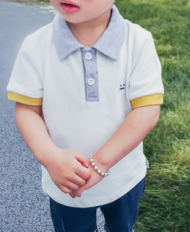 smiley polo shirt - miniwardrobe-Tops-Mini Wardrobe Boutique Kidswear Online