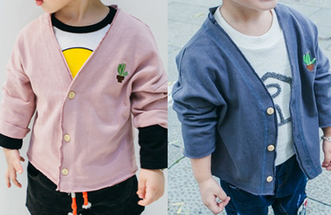 Loose fit cardigan - miniwardrobe-Outterwear-Mini Wardrobe Boutique Kidswear Online