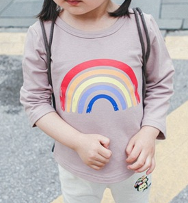 Rainbow Tee - miniwardrobe-Tops-Mini Wardrobe Boutique Kidswear Online