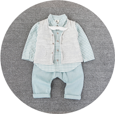 Moustache bow tie 3 pcs set - miniwardrobe-Outfit Set-Mini Wardrobe Boutique Kidswear Online