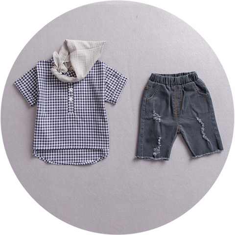 Denim 2 pcs set - miniwardrobe-Outfit Set-Mini Wardrobe Boutique Kidswear Online